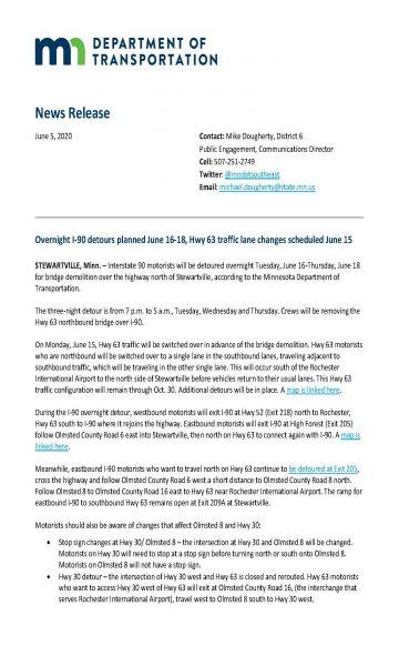 I-90 overnight detour begins June 16 traffic lane changes June 15 2020_Page_1