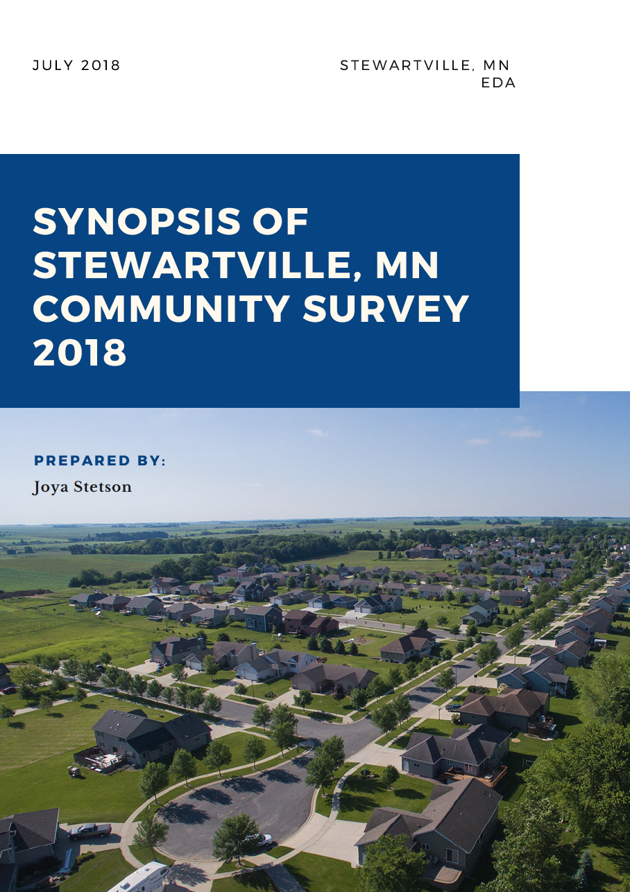 2018 Synopsis of Stewartville, MN Community Survey